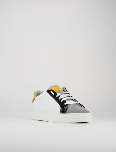 Sneakers pelle grigio