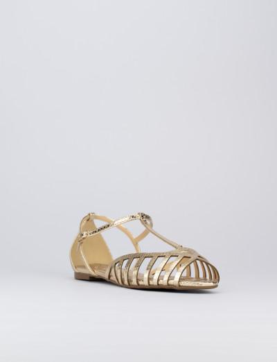 Sandalo atcco 1cm oro pitone