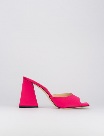 Sandalo tacco 8 cm rosa raso