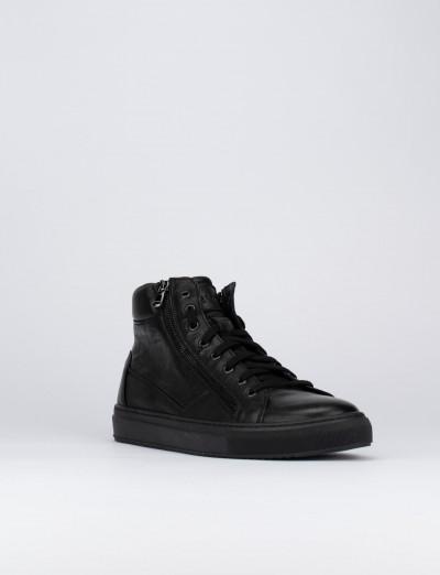 Sneakers pelle nero