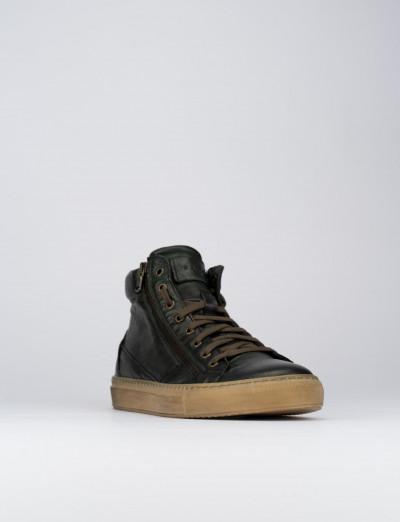 Sneakers pelle verde