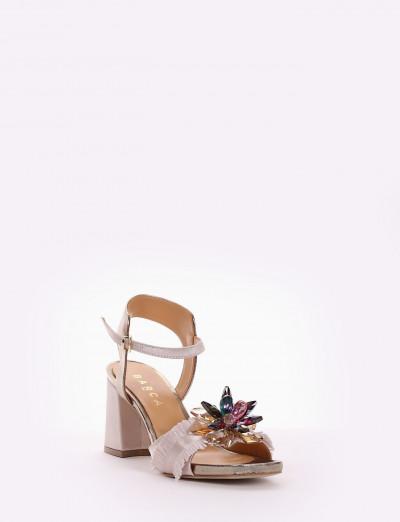 sandalo tacco 7 cm rosa