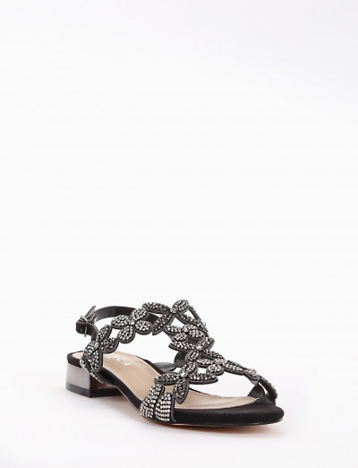 sandalo tacco 2 cm nero
