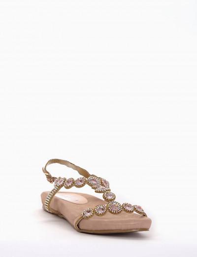 sandalo zeppetta intera rosa