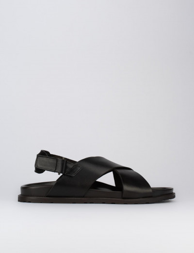 Sandalo tacco 1 cm testa pelle
