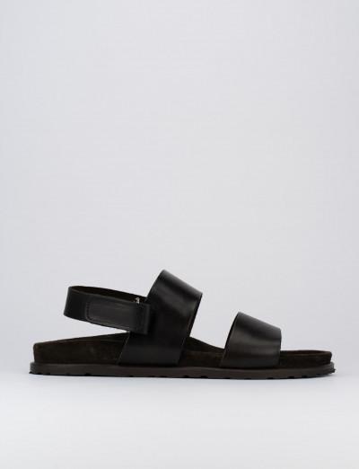 Sandalo tacco 2 cm testa pelle