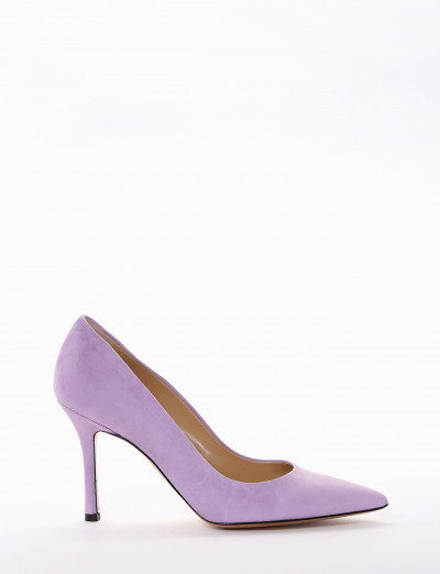 Décolleté heel 9 cm violet chamois