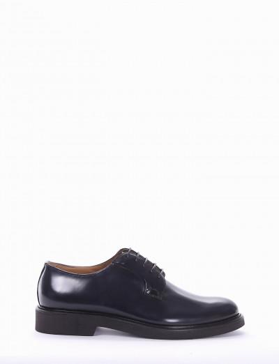 Lace-up shoes heel 2 cm blu brushed