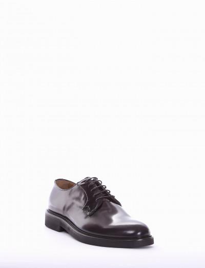 Lace-up shoes heel 2 cm bordeaux brushed