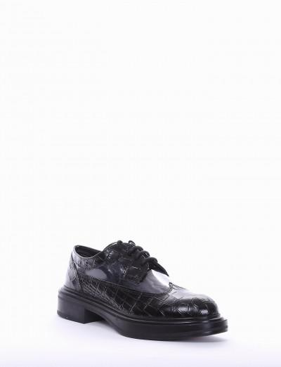 Lace-up shoes heel 2 cm black coconut