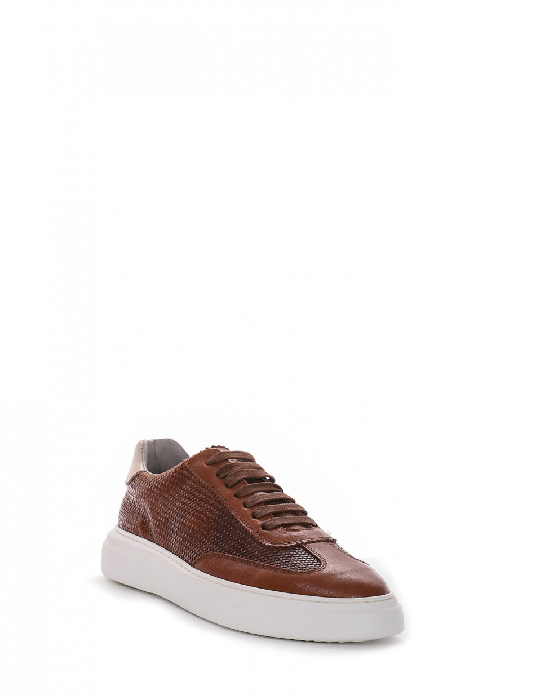 Sneakers heel 3 cm leather