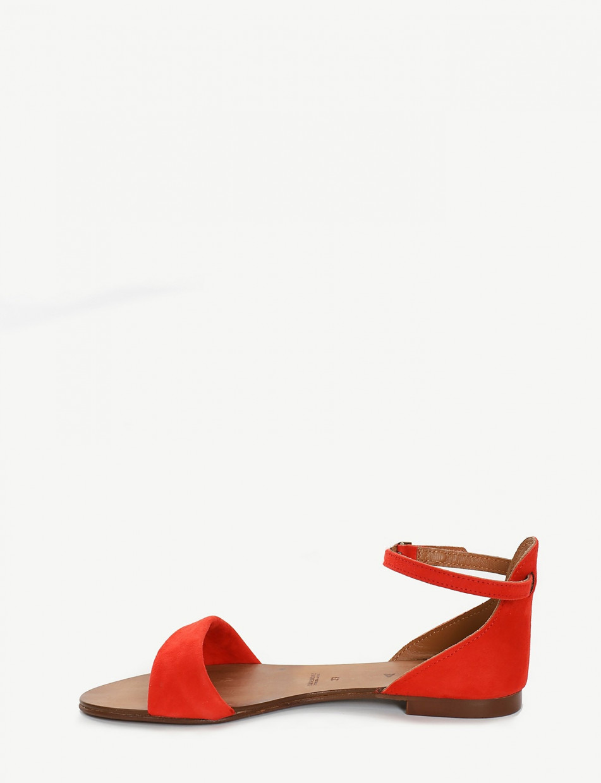 Sandalo tacco 1cm rosso