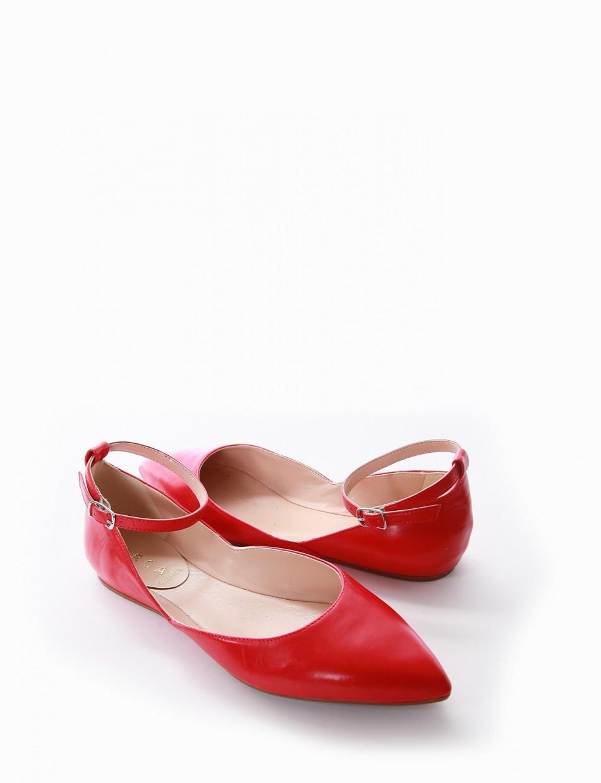 Ballerina tacco 1cm rosso