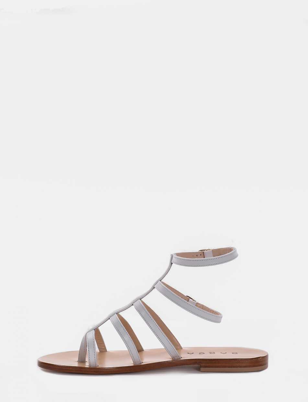 Sandalo tacco 1 cm bianco