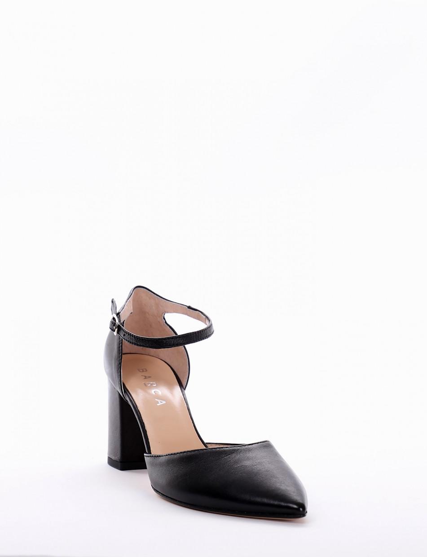 Pumps heel 7 cm black leather