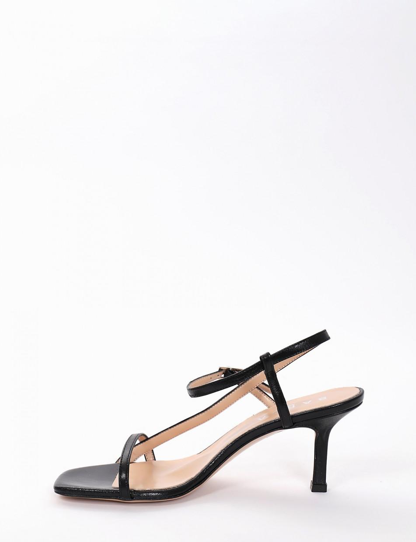 Sandalo tacco 7 cm nero