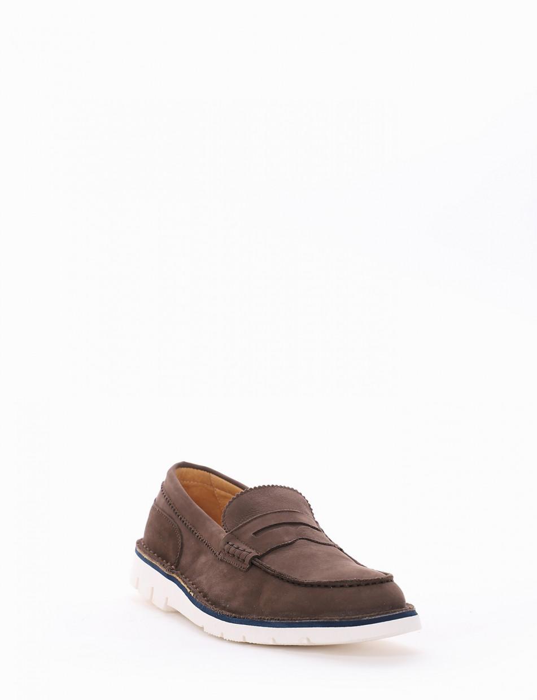 Loafers heel 1cm dark brown