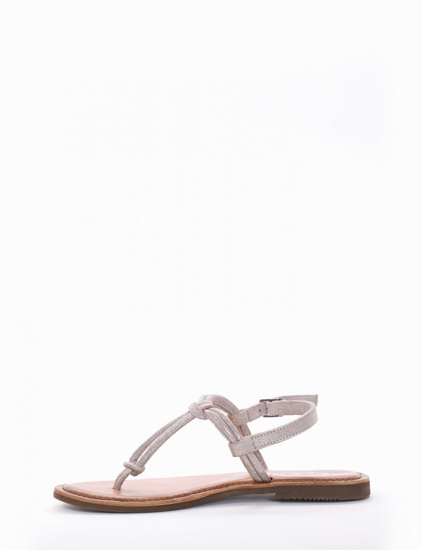 Sandalo tacco 1cm argento