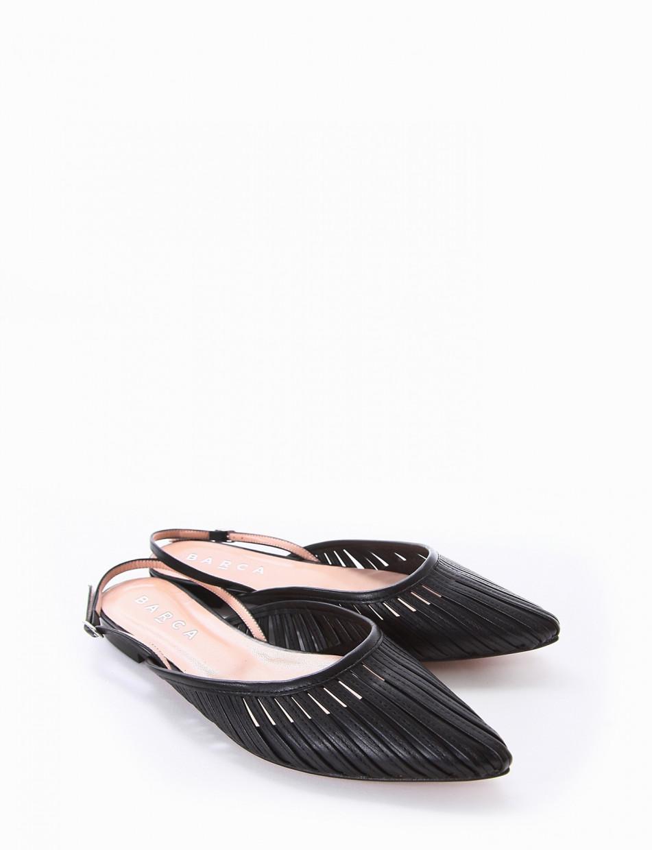 Ballerina chanel tacco 1cm nero