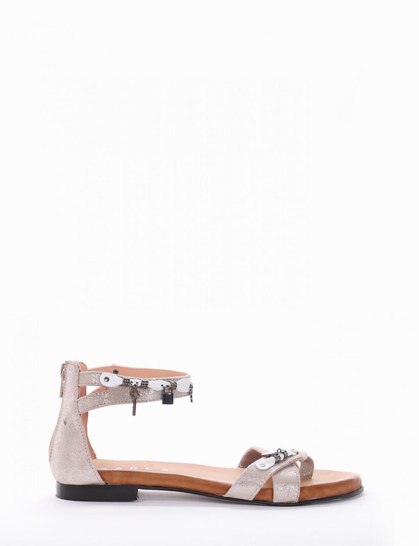 Sandalo tacco 1cm beige