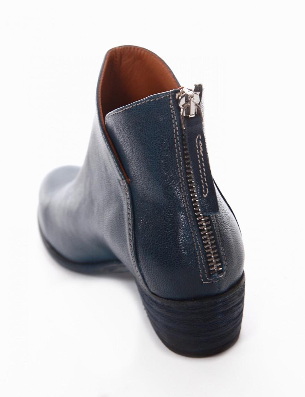 Stivaletto tacco 4cm blu