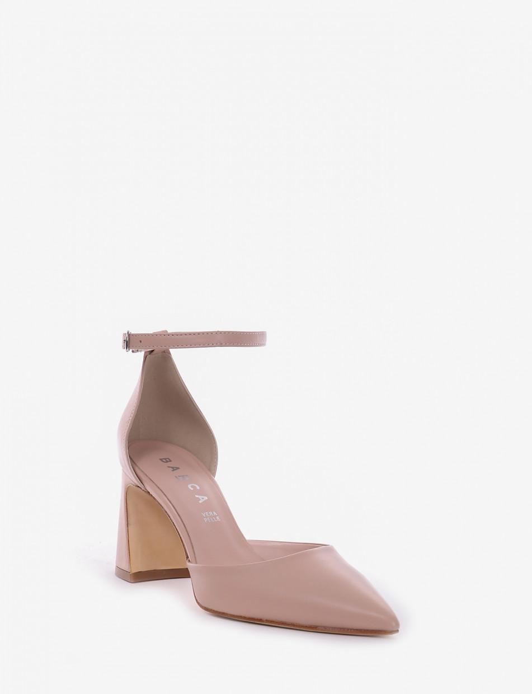 Pumps heel 7 cm pink leather