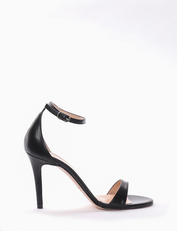 Sandalo tacco 9 cm nero