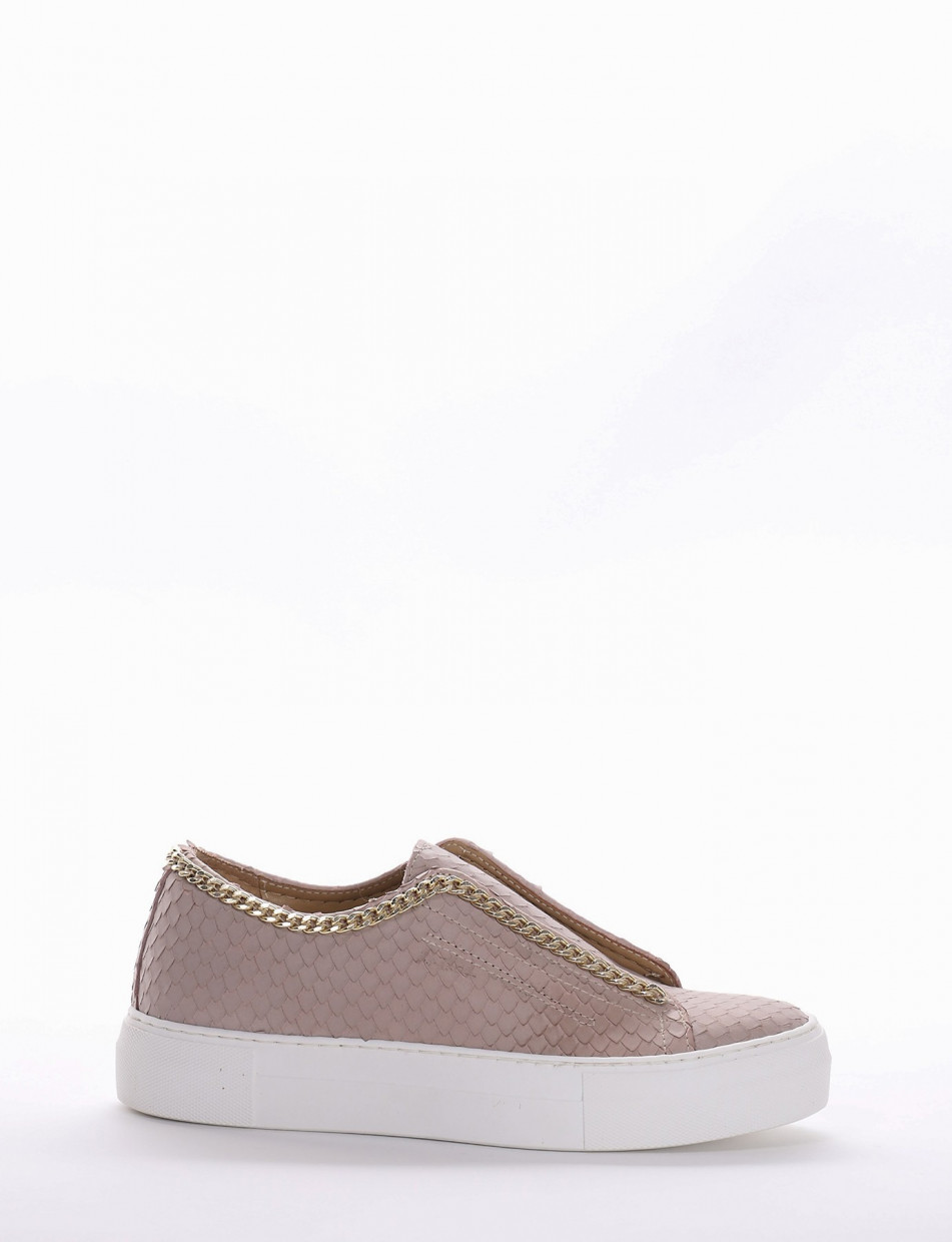Sneakers pink leather