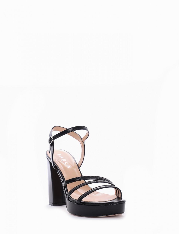 Sandalo tacco 10cm nero