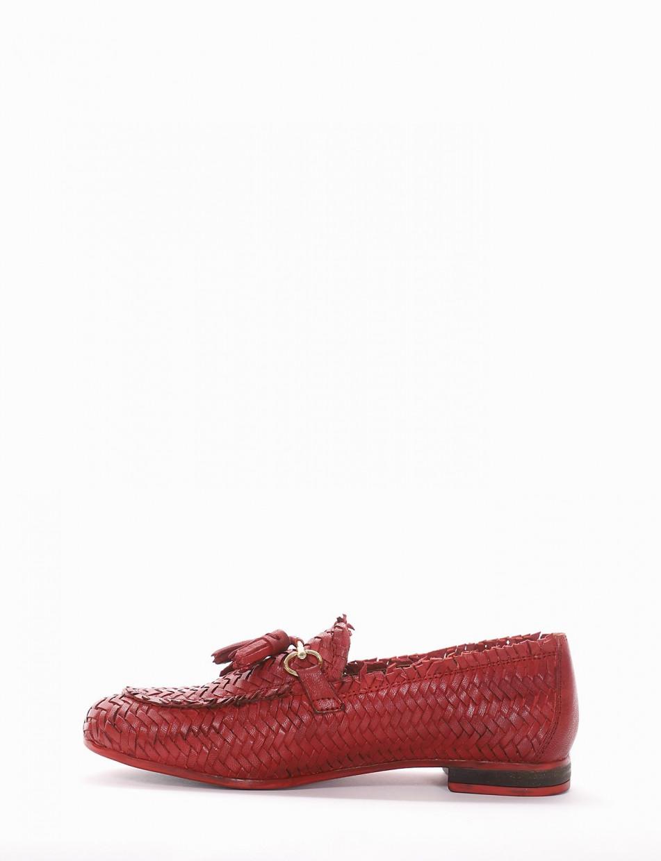 mocassino tacco 1 cm rosso
