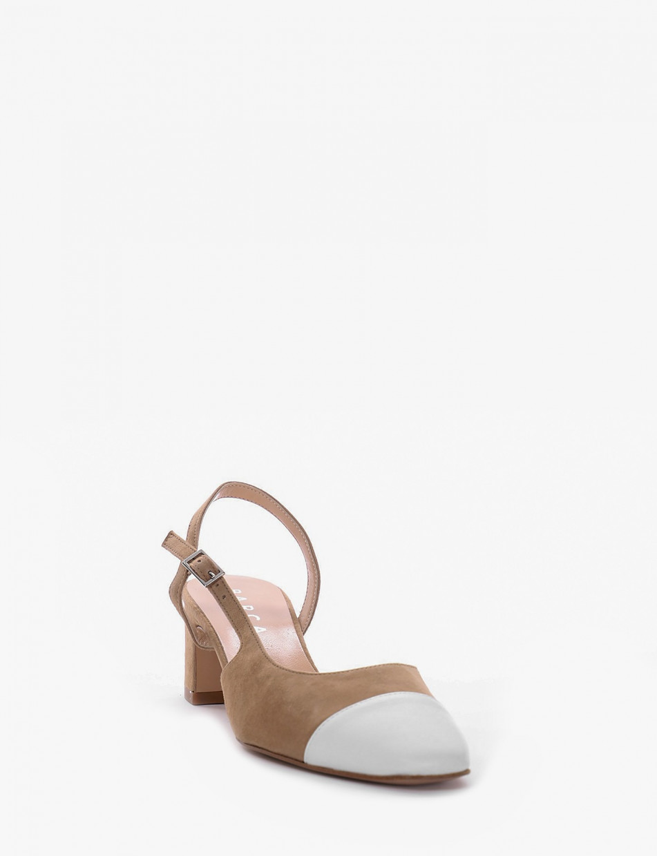 Chanel tacco 5 cm beige