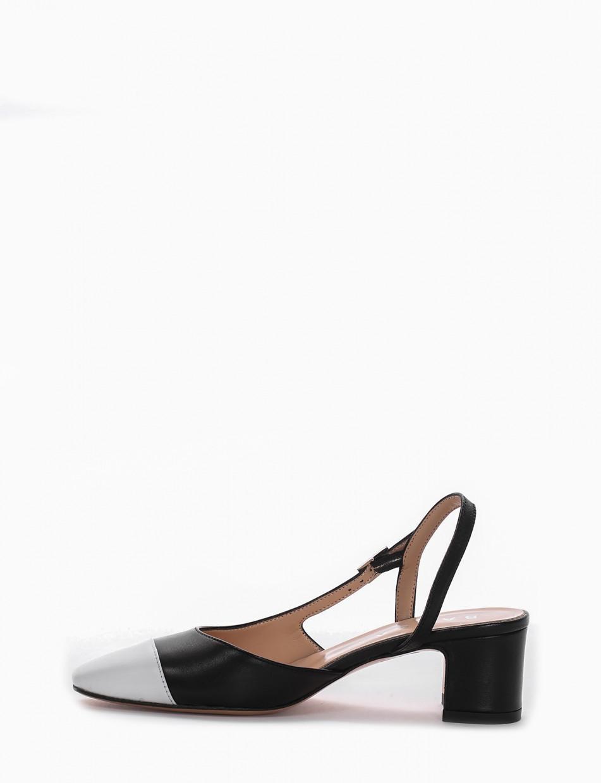 Pumps heel 5 cm black leather