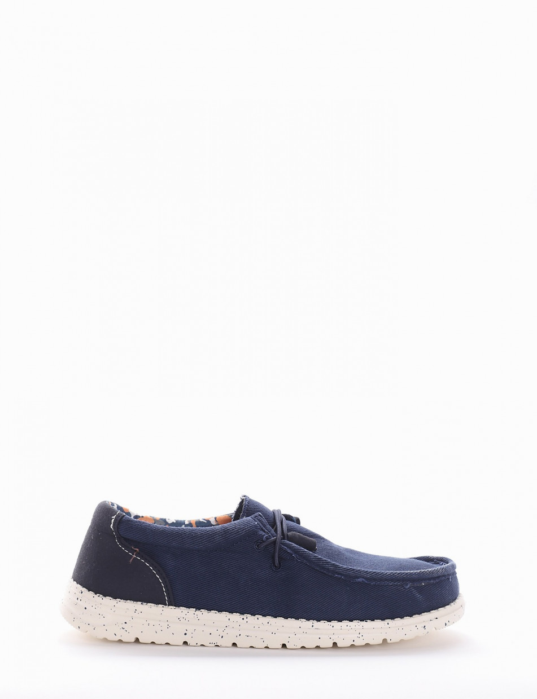 Sneakers blu canvas
