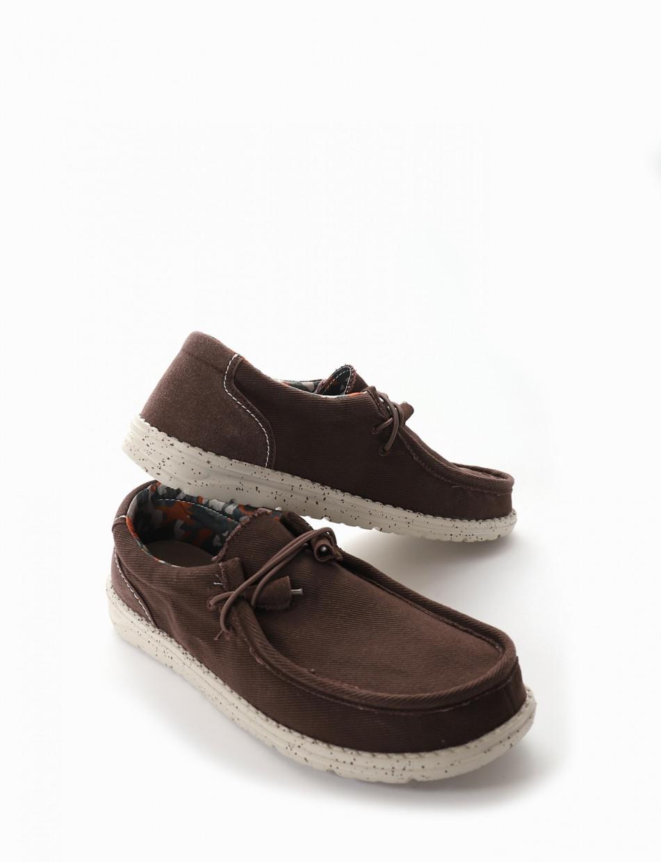 Sneakers dark brown canvas