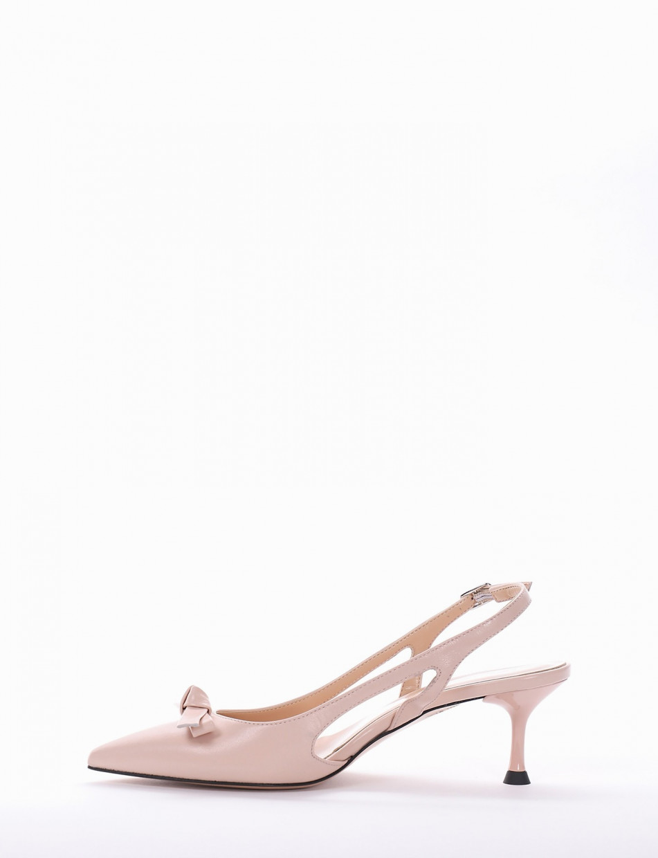 Pumps heel 5cm pink leather