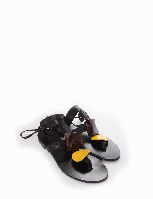 Sandalo infradito tacco 1 cm nero