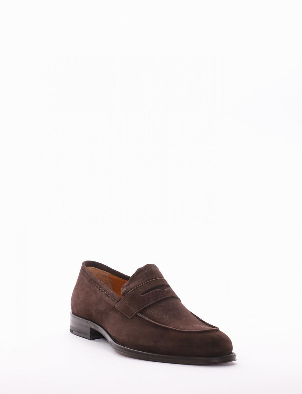 Loafers dark brown chamois