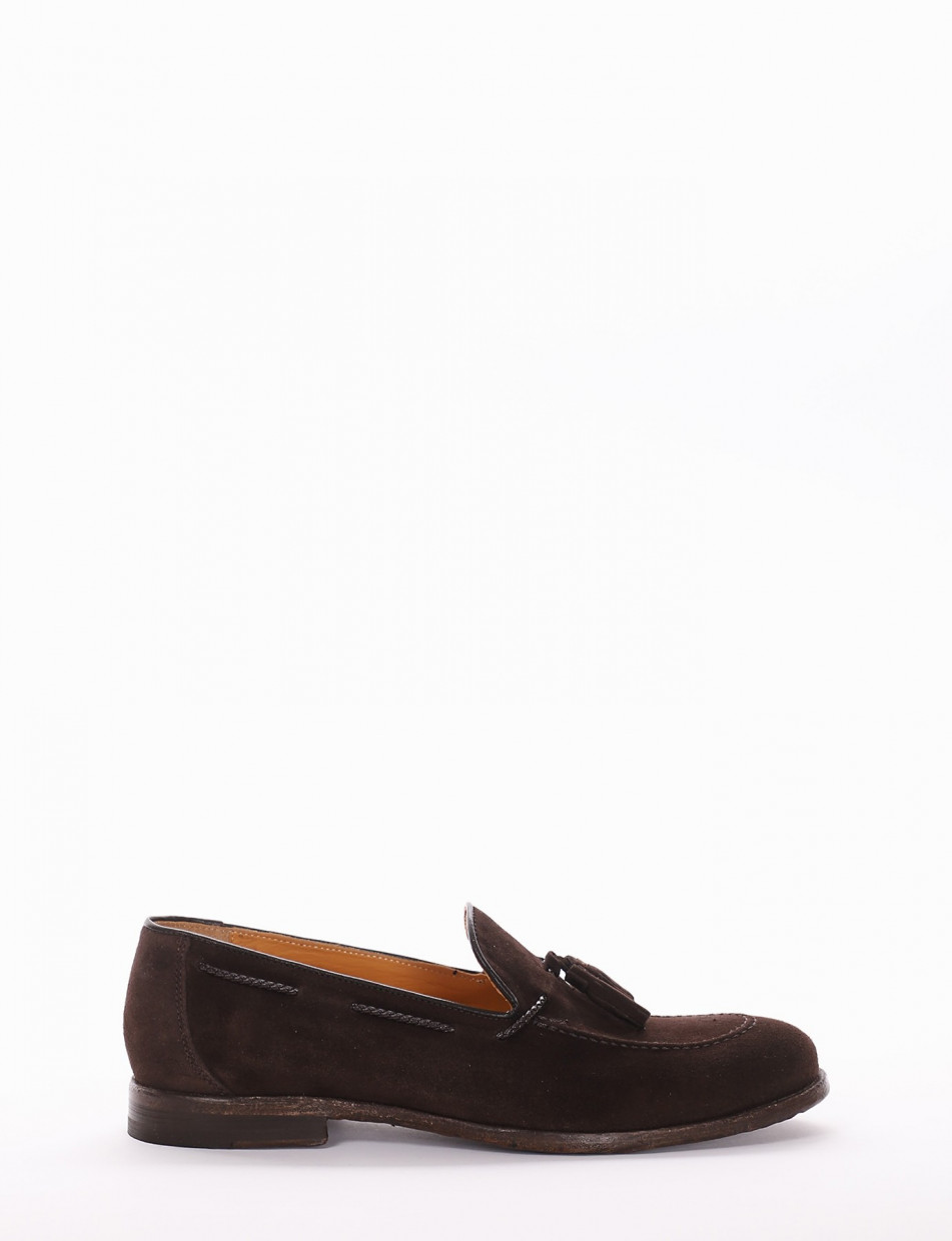 Loafers dark brown chamois