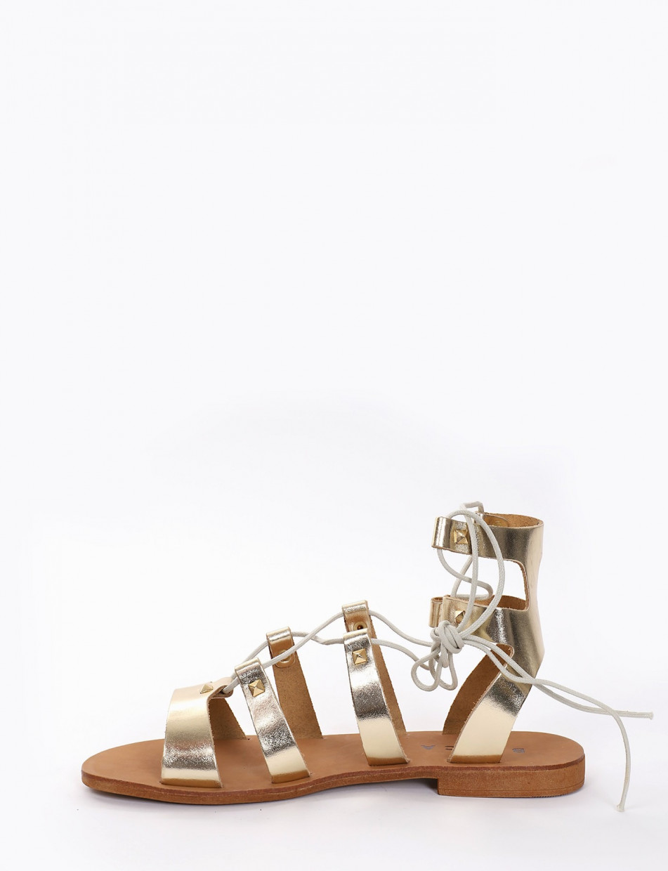 sandalo tacco 1 cm platino