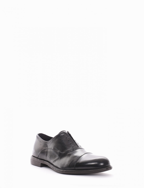 scarpa no lace tacco 2 cm nero