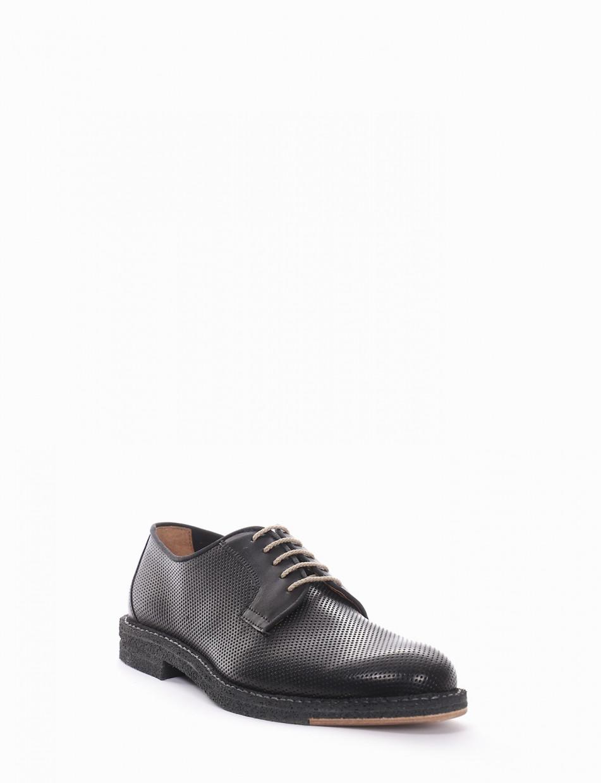 scarpa lacci tacco 2 cm nero