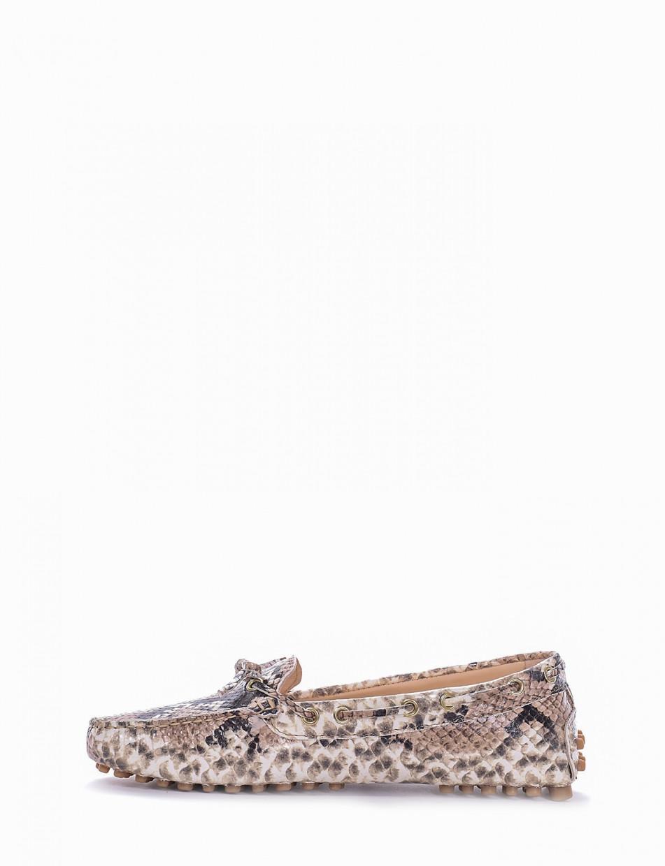 Loafers brown python