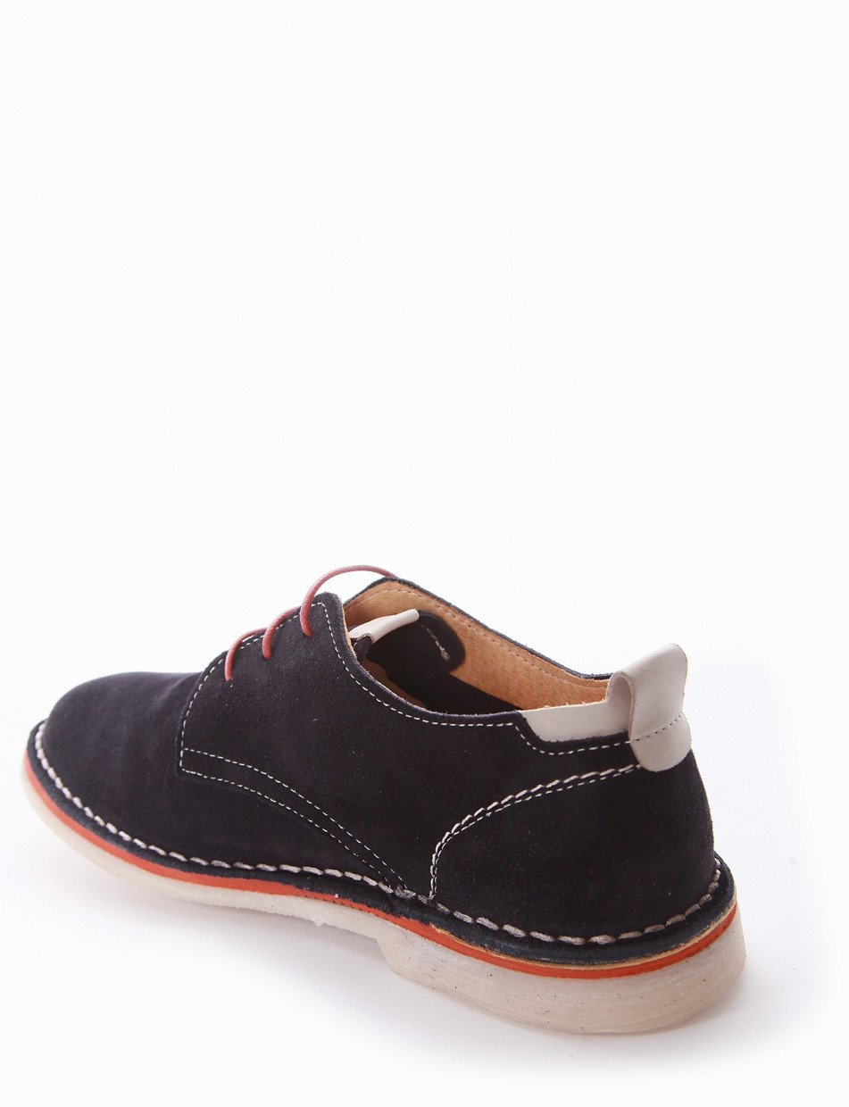 Lace-up shoes blu chamois