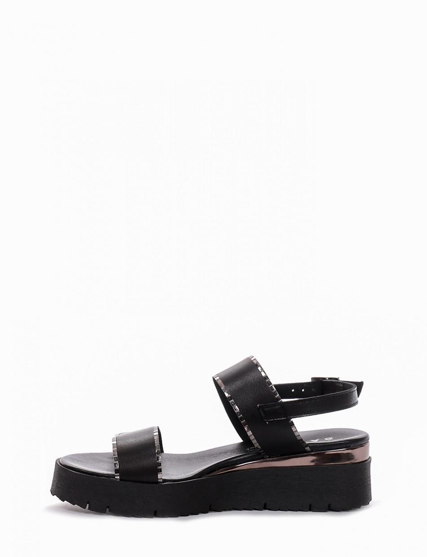 Sandalo tacco 1 cm nero