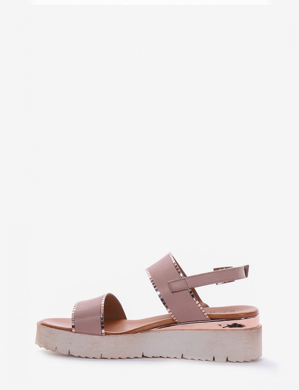 Sandalo tacco 1 cm rosa