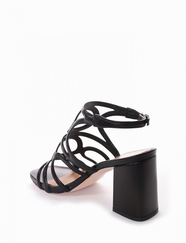 sandalo tacco 8 cm nero