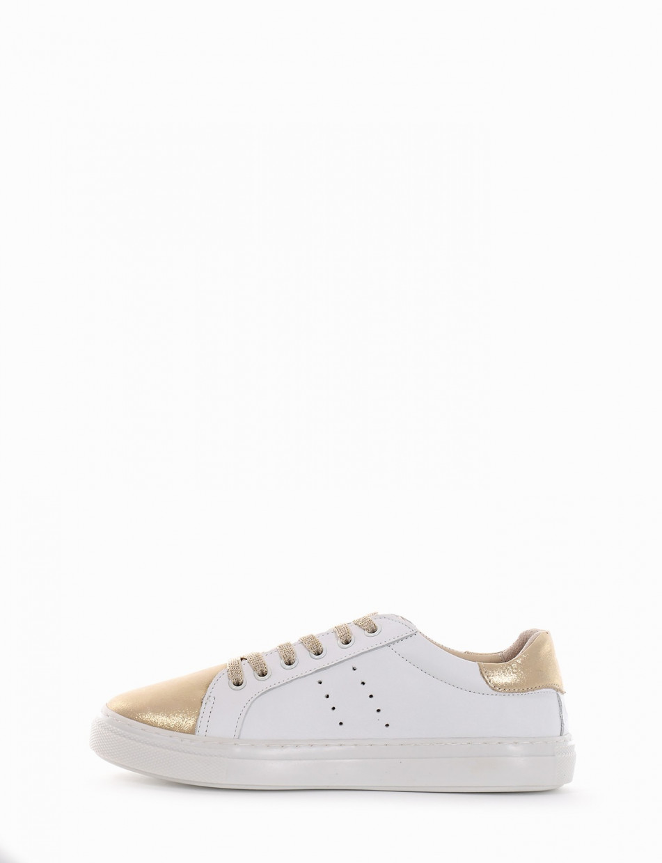 Sneakers beige leather
