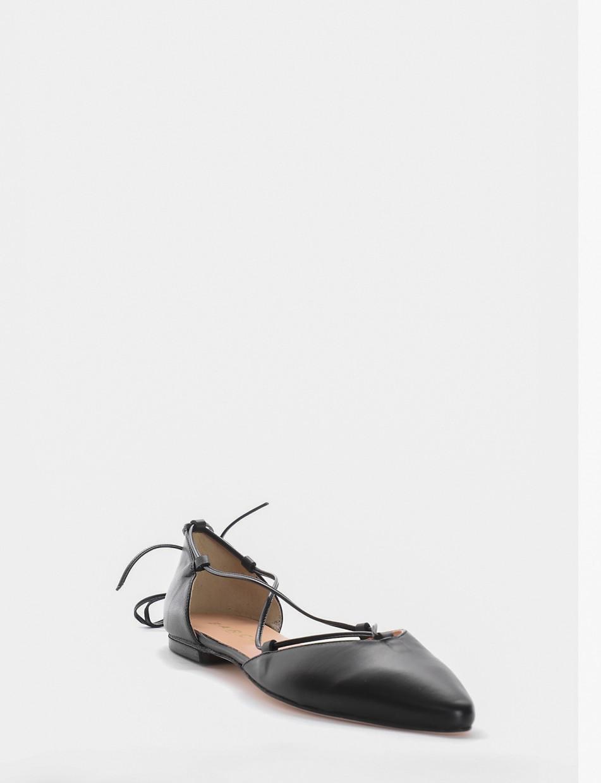 Ballerina tacco 1 cm nero