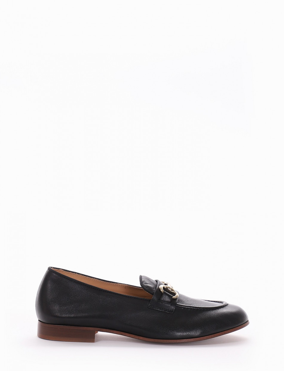 Loafers black leather