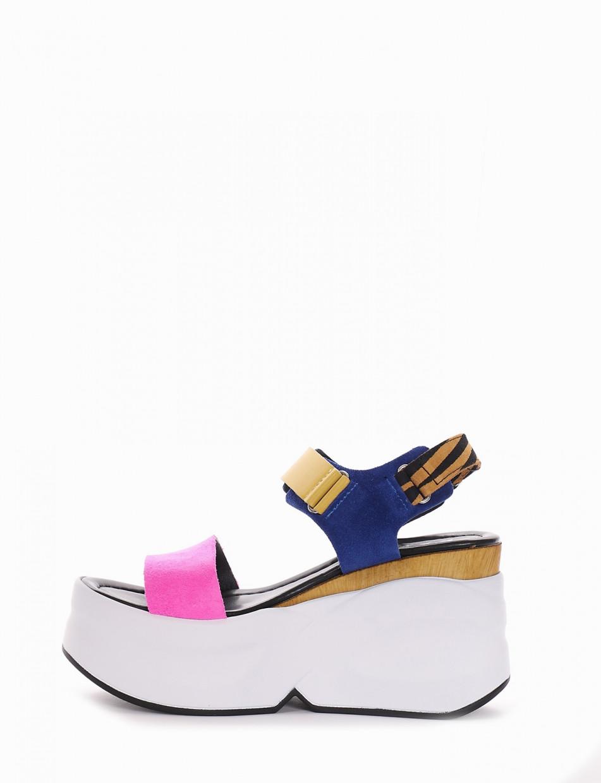 Wedge heels heel 0 cm pink chamois